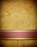 Soft golden brown parchment Royalty Free Stock Photo