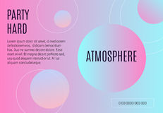 Soft gradient background abstract geometric design flier vector. Soft gradient background abstract geometric design flier party vector vector illustration