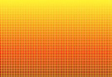Color Transition Mosaic yellow to red. Soft gradient color transition Mosaic - yellow to red stock illustration
