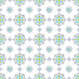 Soft gray, blue, and green Mediterranean tiling ornament Royalty Free Stock Photography