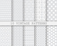 10 soft gray patterns. 10 different  soft patterns, Pattern Swatches, vector, Endless texture can be used for wallpaper, pattern fills, web page,background Royalty Free Stock Image