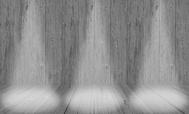 soft gray studio room background, grey floor backdrop with spotlight wood royalty free stock images