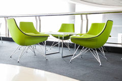 Soft green Stylish Chair in the hall Royalty Free Stock Photography