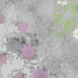 Soft grey and pink flowers and foliage Stock Images