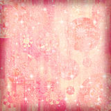 SOFT GRUNGE SPARKLE BACKGROUND. A soft floral and sparkling airbrushed background  for scrapbooking and design Stock Image