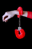 Soft handcuffs Royalty Free Stock Images