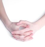 Soft hands Stock Photography