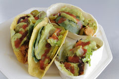 Soft and Hard Chicken Tacos royalty free stock photo