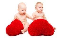 Soft hearts Stock Image