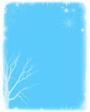 Soft holiday background. Winter snow scene in babyblue Royalty Free Illustration