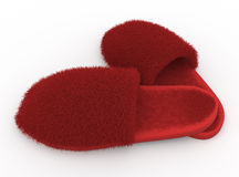Soft home slippers Royalty Free Stock Photos