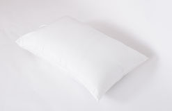 Soft and hygiene pillow great for your bedroom isolated on white Royalty Free Stock Photography