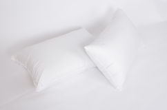 Soft and hygiene pillow great for your bedroom isolated on white Stock Photo