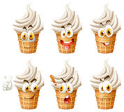 Soft ice cream on cone Royalty Free Stock Images