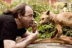 Soft ice cream with Fox Royalty Free Stock Image
