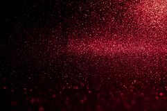 Soft image abstract bokeh dark red with light background.Red,maroon,black color night light elegance,smooth backdrop or artwork de. Sign for new year,Christmas stock image