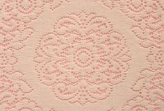 Soft lace doily on pink Stock Photo