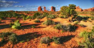 Soft landscape in Arches Stock Photos