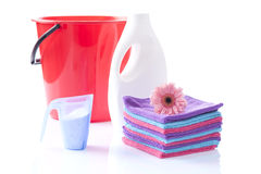 Soft laundering detergents Royalty Free Stock Image