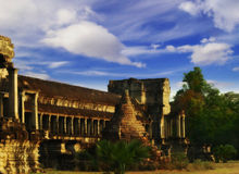 Soft light of Angkor Royalty Free Stock Photos