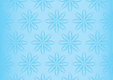 Soft Light Blue Floral Repeated Pattern Seamless Stock Images