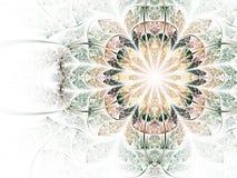 Soft and light fractal flower Stock Image