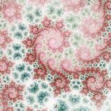 Soft and light fractal swirls. Digital artwork for creative graphic design stock illustration
