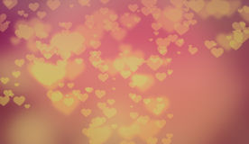 Soft Light Valentine Hearts Background Royalty Free Stock Photography