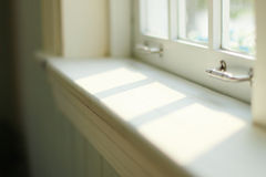 Soft Light from Window. Warm white Light and shadow that fall off from sun light Royalty Free Stock Photos
