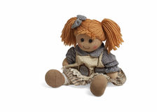 Soft lovely funny doll Stock Photos