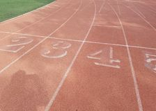 Running track at the line no people royalty free stock images