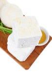 Soft mediterranean feta Stock Image