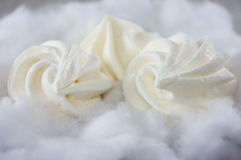 Soft meringue cakes Stock Photo