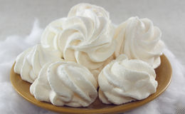 Soft meringue cakes Stock Photos