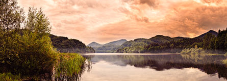 Soft Mist Over Lake Stock Photography