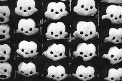 Soft mouse toy. Mouse toys on the showcase Stock Images