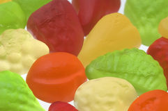 Soft multi colored gummy sweets Royalty Free Stock Photography