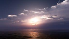 Soft Ocean Sunset Royalty Free Stock Photo