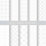 10 soft octagon patterns Stock Photos
