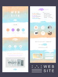 Soft one page website template design Royalty Free Stock Photos