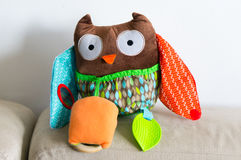 Soft owl toy Stock Images