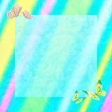 Soft Pastel Background with Butterflies Royalty Free Stock Photography