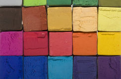 Soft pastel cubes Royalty Free Stock Images