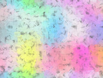 Soft pastel cubist texture on grey Royalty Free Stock Image