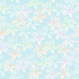 Soft Pastel Floral Background Seamless Vector Repeat Pattern stock illustration