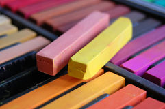 Soft Pastel Sticks Warm Colors Stock Image