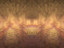 Soft pastel yellow, purple, pink and peach pillars of light flame fractal stock illustration