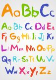Soft Pastels Alphabet Stock Images