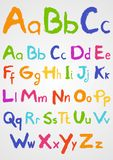 Soft Pastels Alphabet Royalty Free Stock Photo