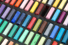 Soft Pastels. Used colorful soft  pastels in different colors Stock Images